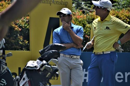 2017 Maybank Championship winner Fabrizio Zanotti  of Paraguay chatting with Scot Simon Yates